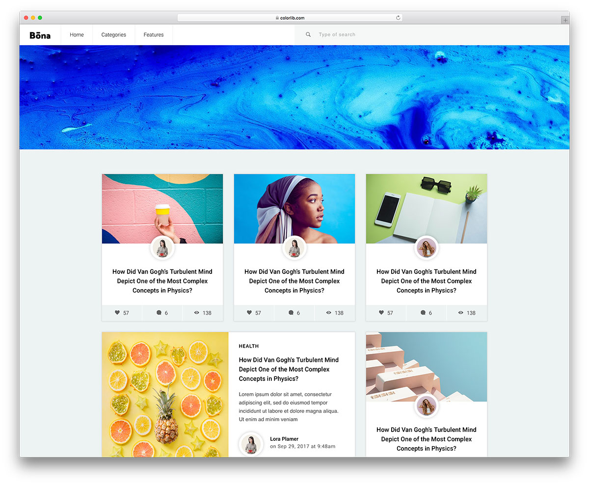 Bona Free Blog Website Templates Colorlib