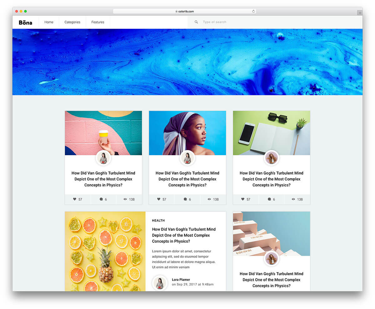 bona free blog template