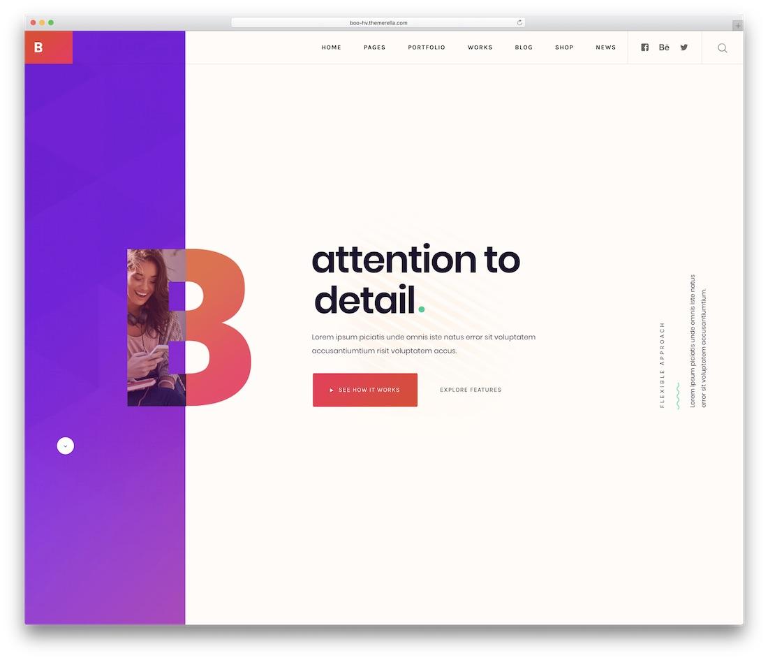 boo business website template
