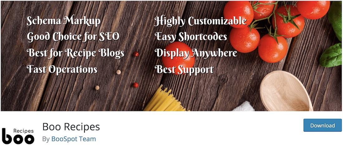 boo recipes wordpress plugin