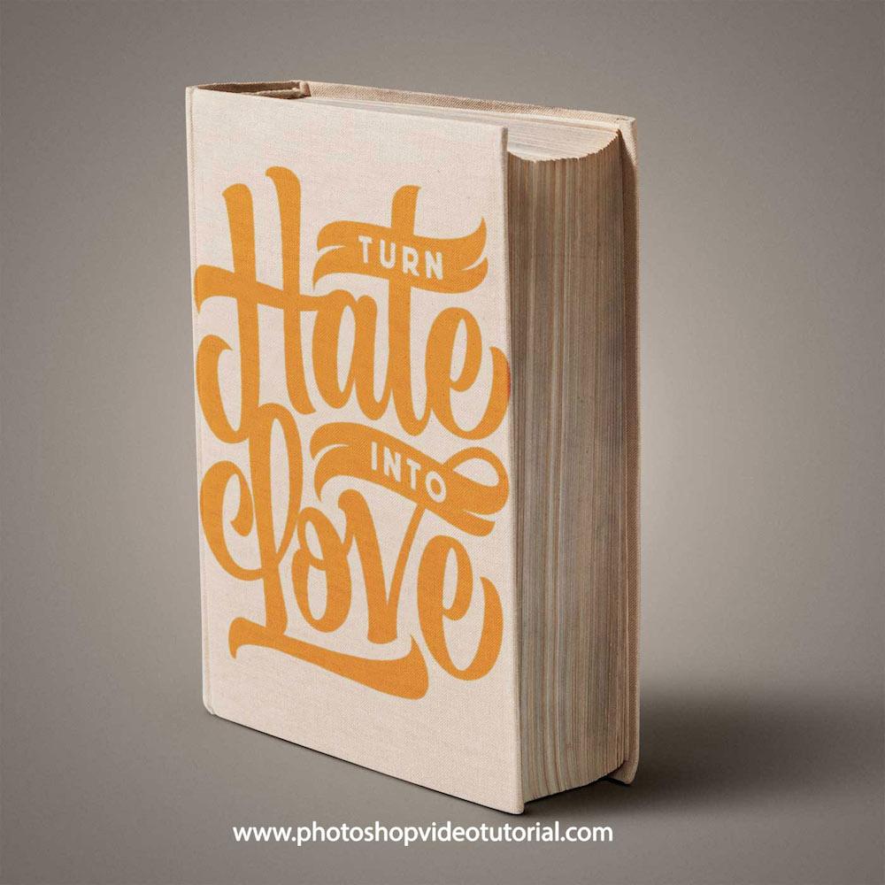book cover design psd mockup