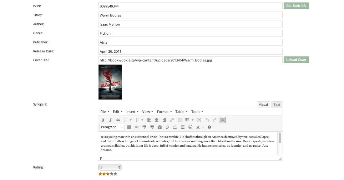 book review wordpress plugin
