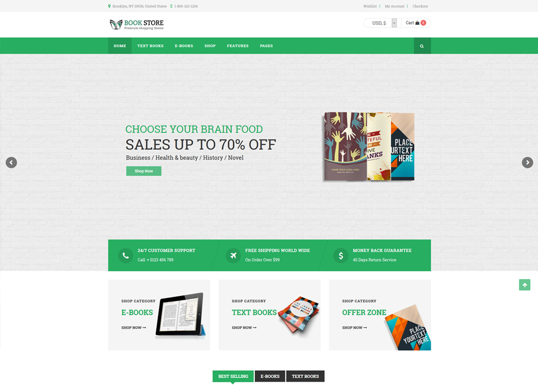 Book Store | Book Store WordPress WooCommerce Theme