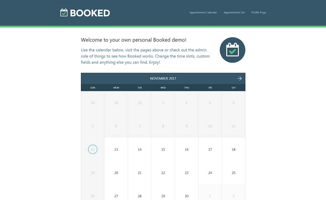 booked appointment booking wordpress