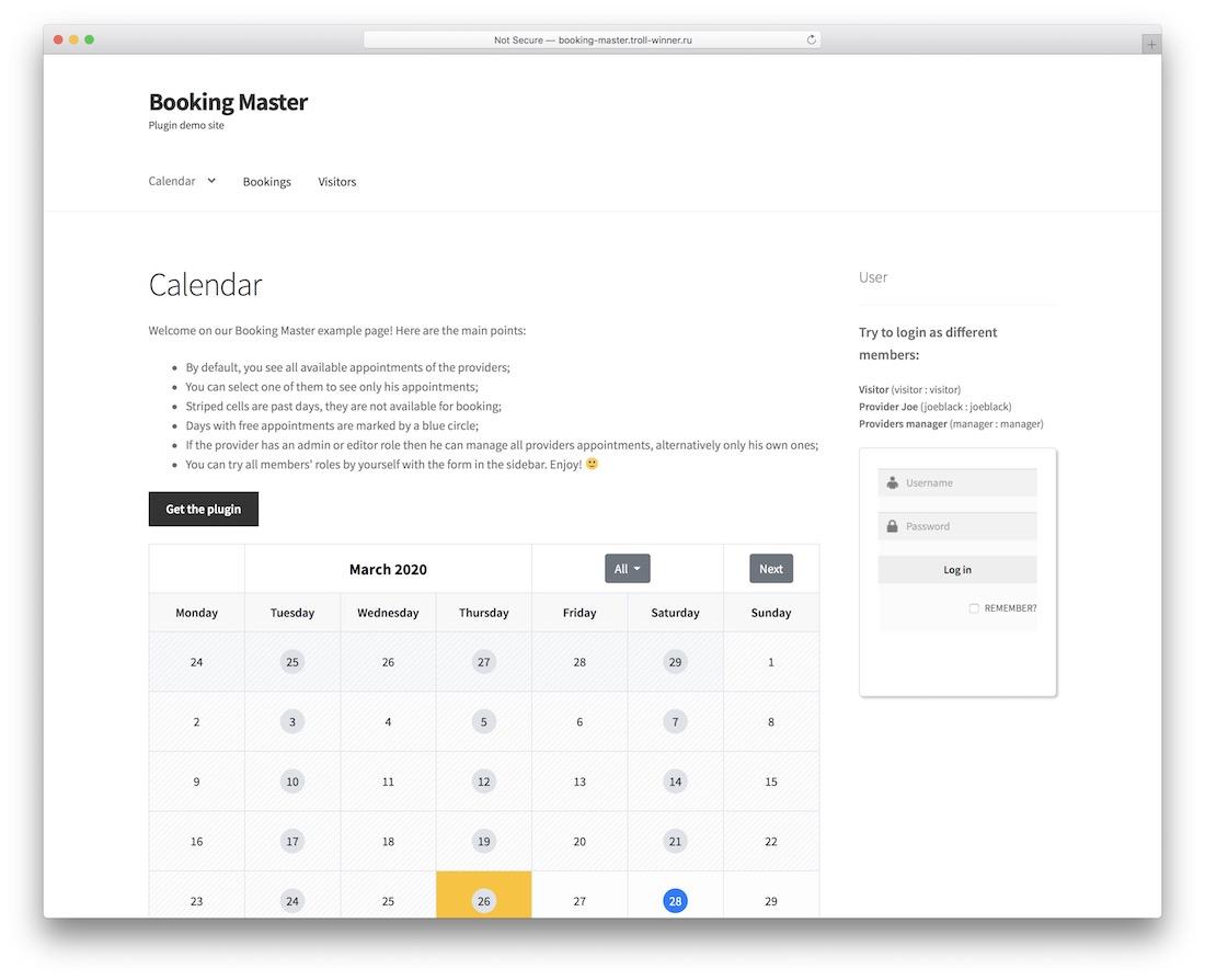 booking master wordpress plugin