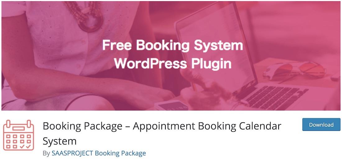 booking package wordpress calendar plugin