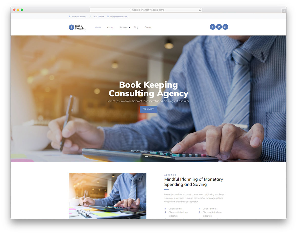 BookKeeping Free Template