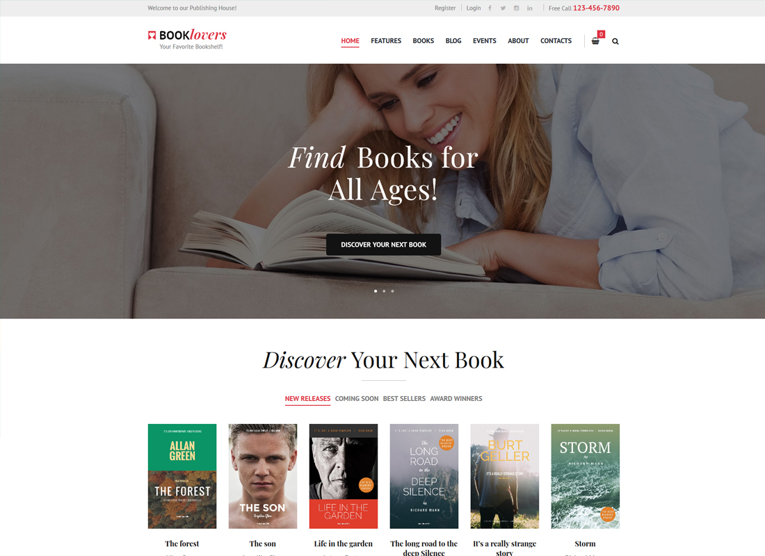 Booklovers | Publishing House & Book Store WordPress Theme