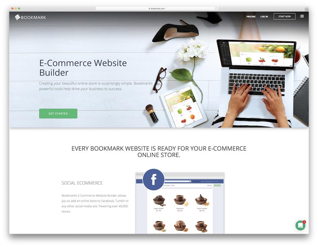 bookmark fashion website builder