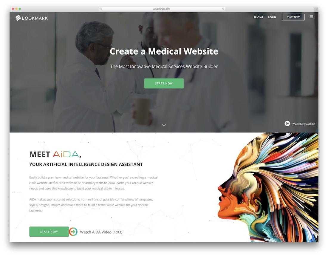 bookmark medical website builder