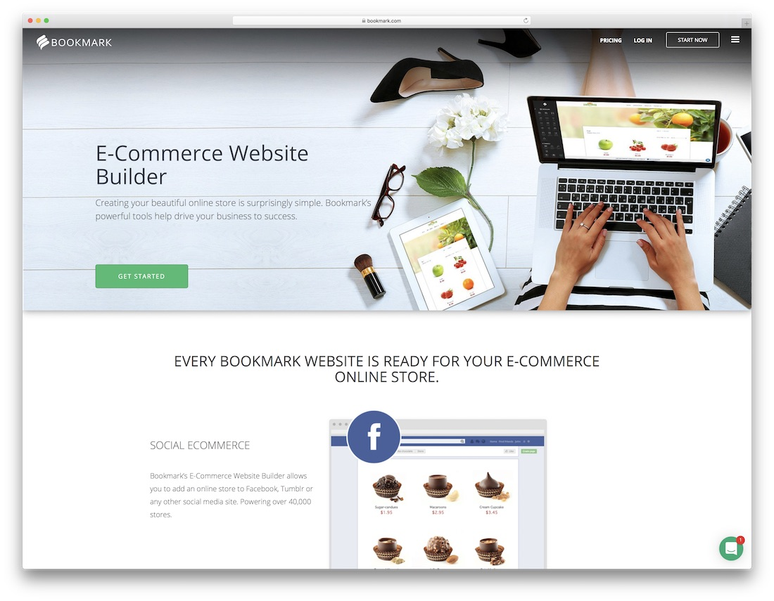 bookmark online store builder