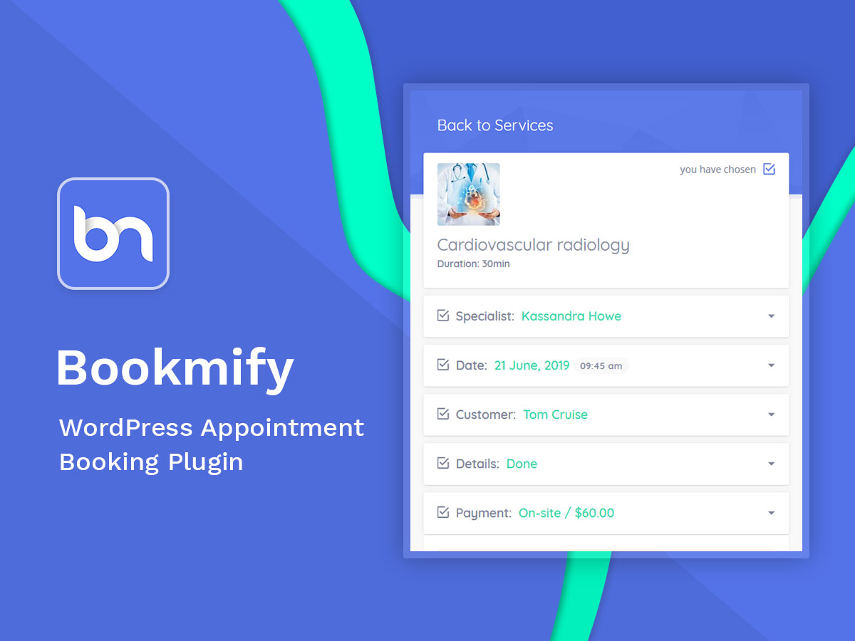 bookmify appointment booking plugin