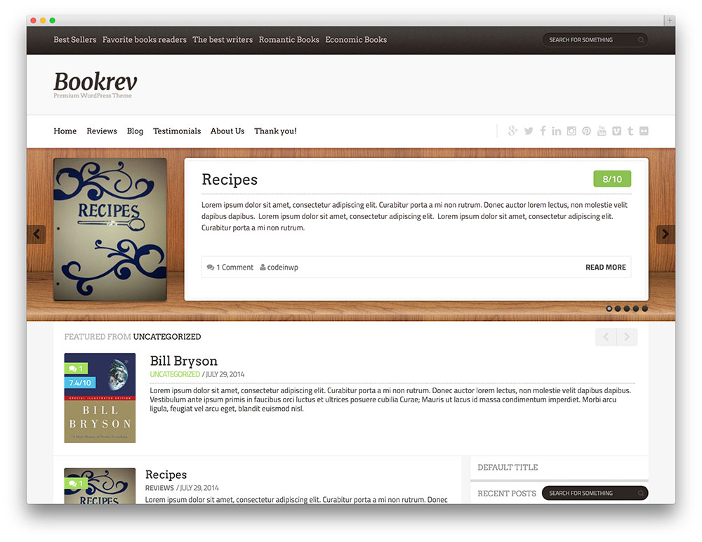bookrev - book review theme