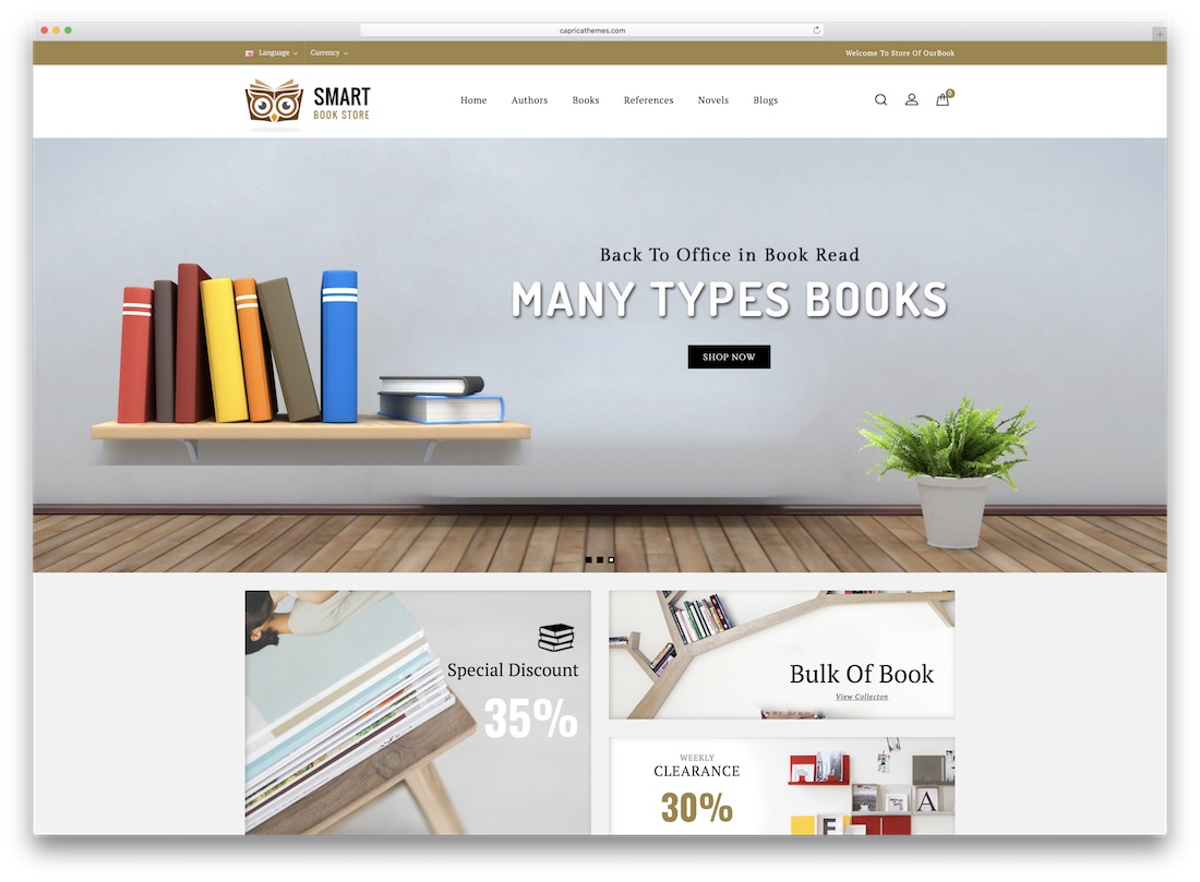 books opencart theme