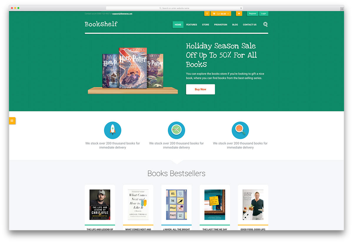 Best wordpress themes for selling digital products 2018 colorlib bookshelf ebook store wordpess theme fandeluxe Images