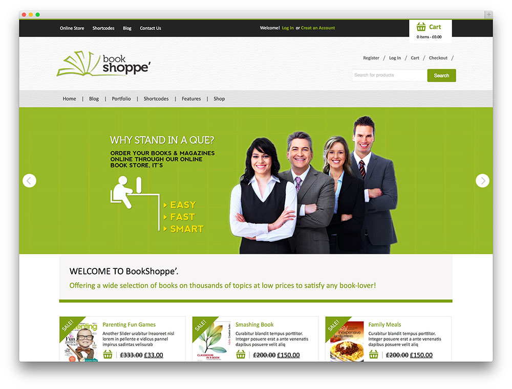 Best wordpress bookstore themes for selling books ebooks for Best selling websites online