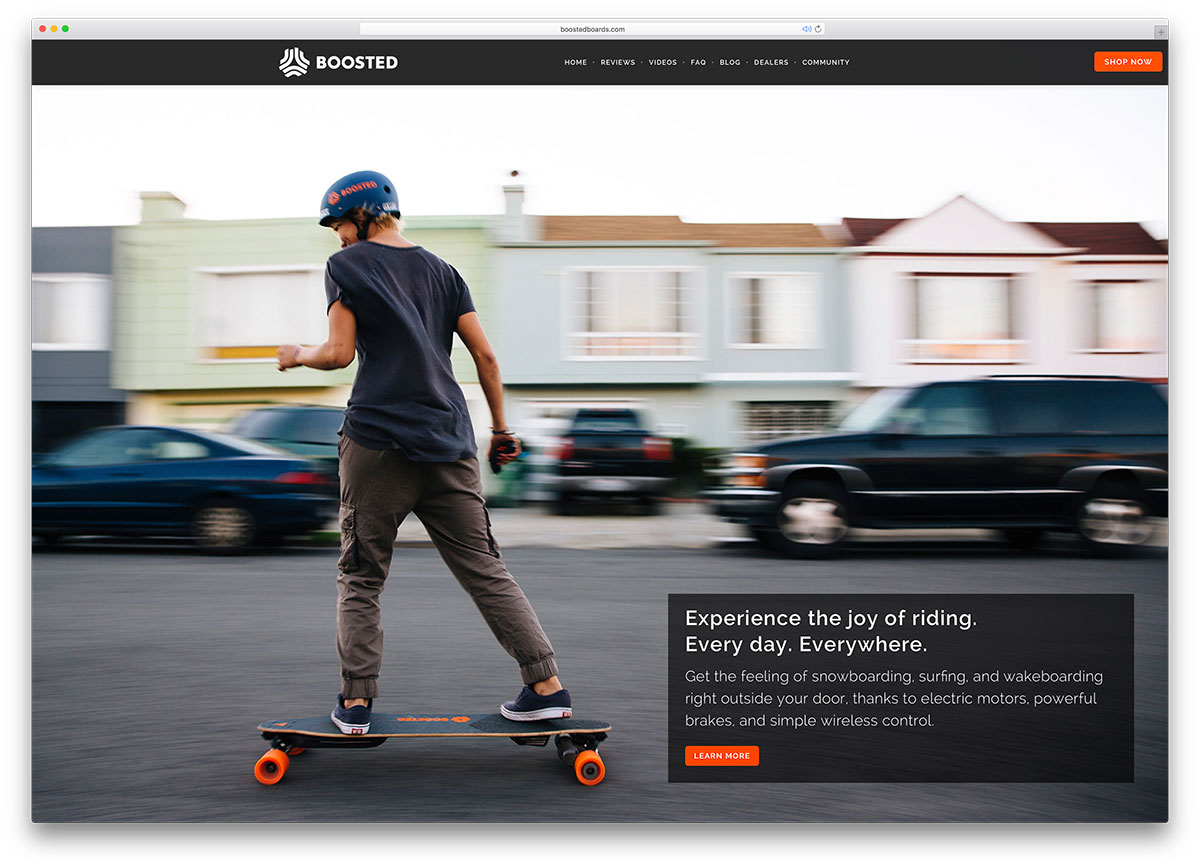 boostedboards-longboard-landing-page-with-brooklyn