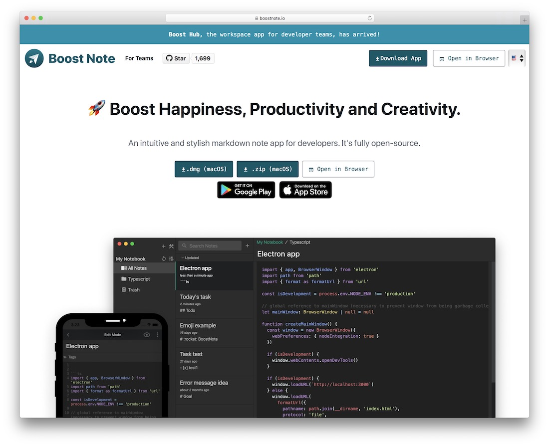 boostnote online notes tool app