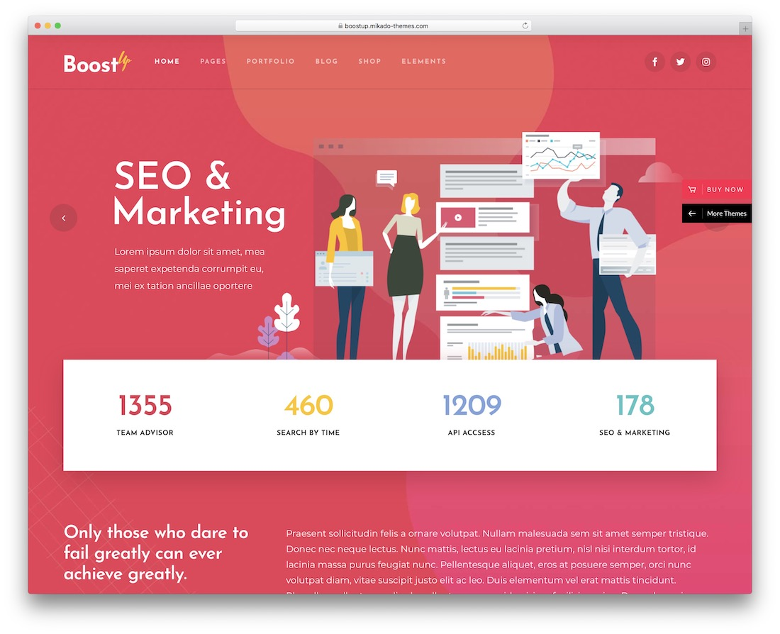 boostup seo optimized wordpress theme