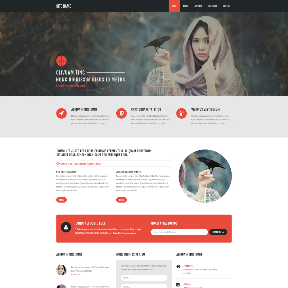 20 Best Free Psd Website Templates For Business Portfolio