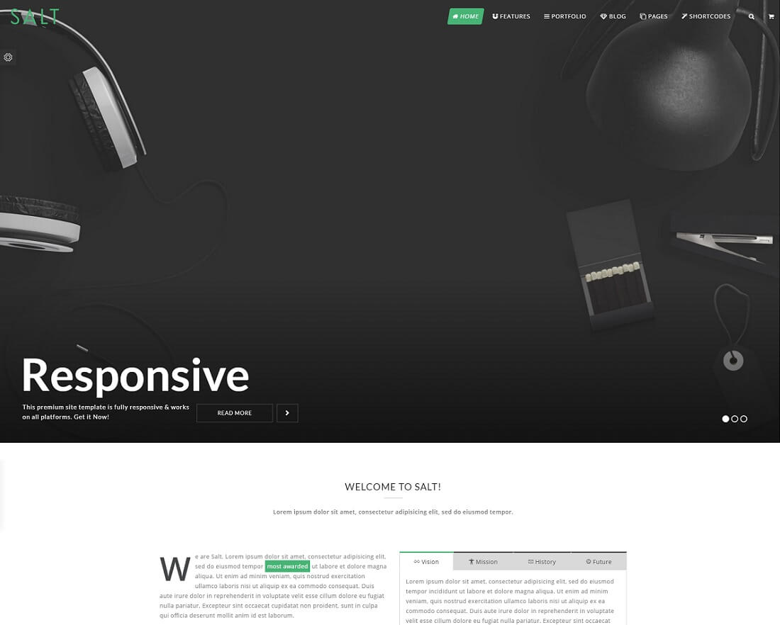 20 Premium & Modern Bootstrap Business Website Templates 2018
