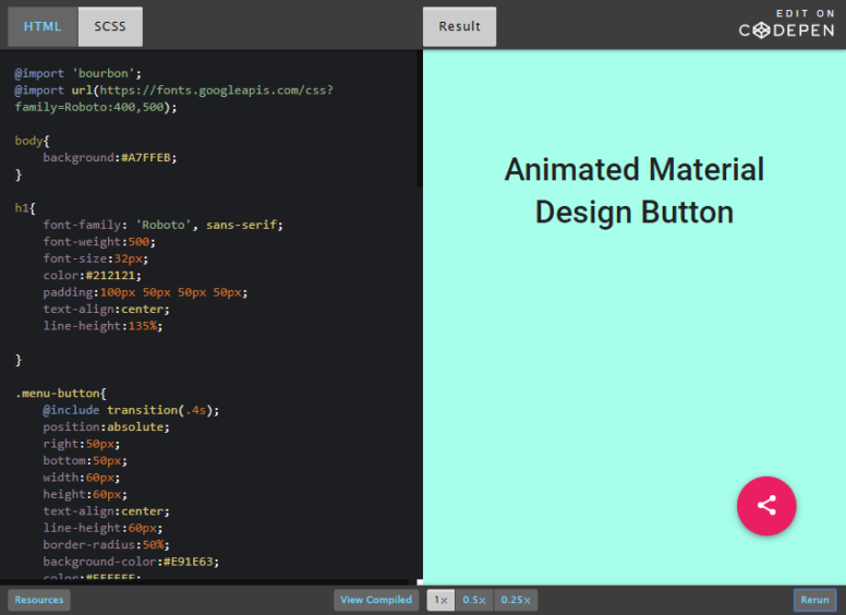 Codepen Button Group