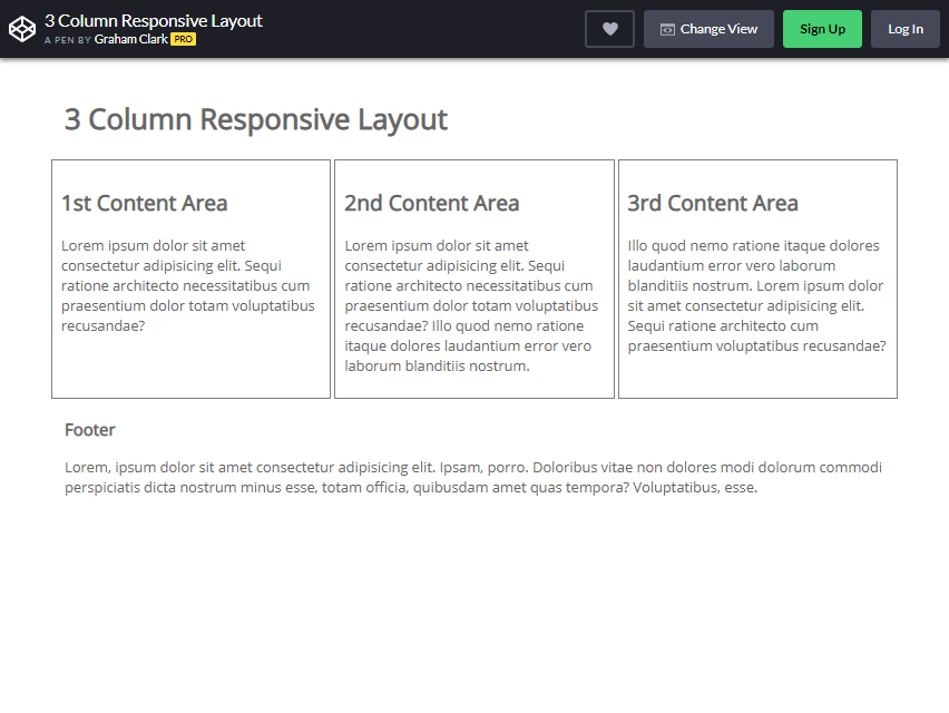 bootstrap column layout
