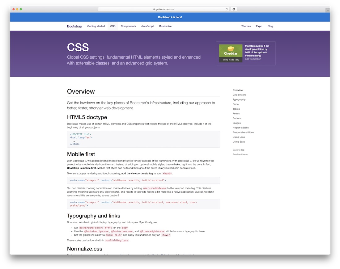 bootstrap css table