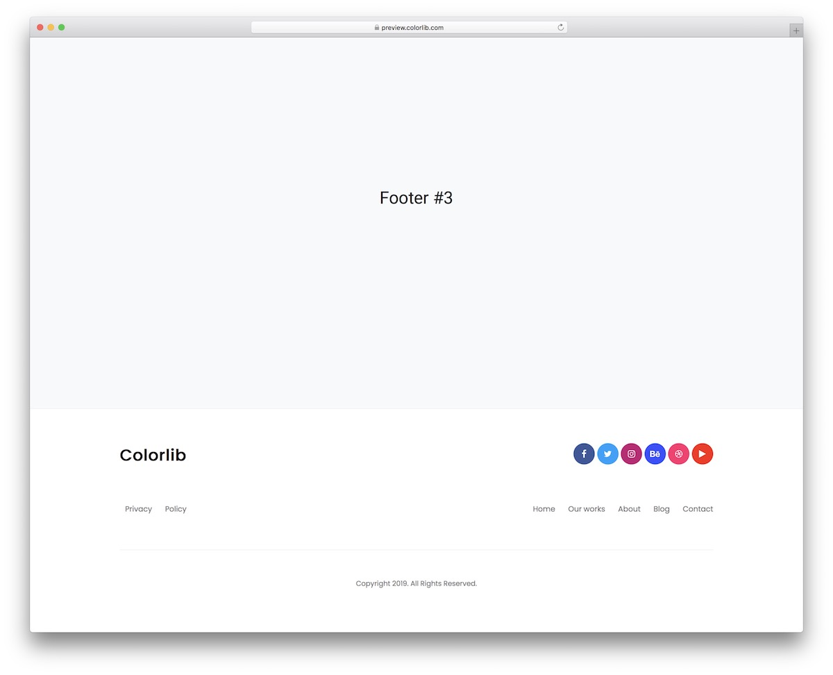 bootstrap footer 03
