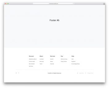 Bootstrap Footer 06