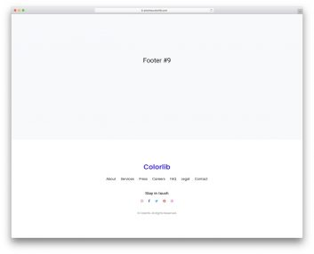 Bootstrap Footer 09