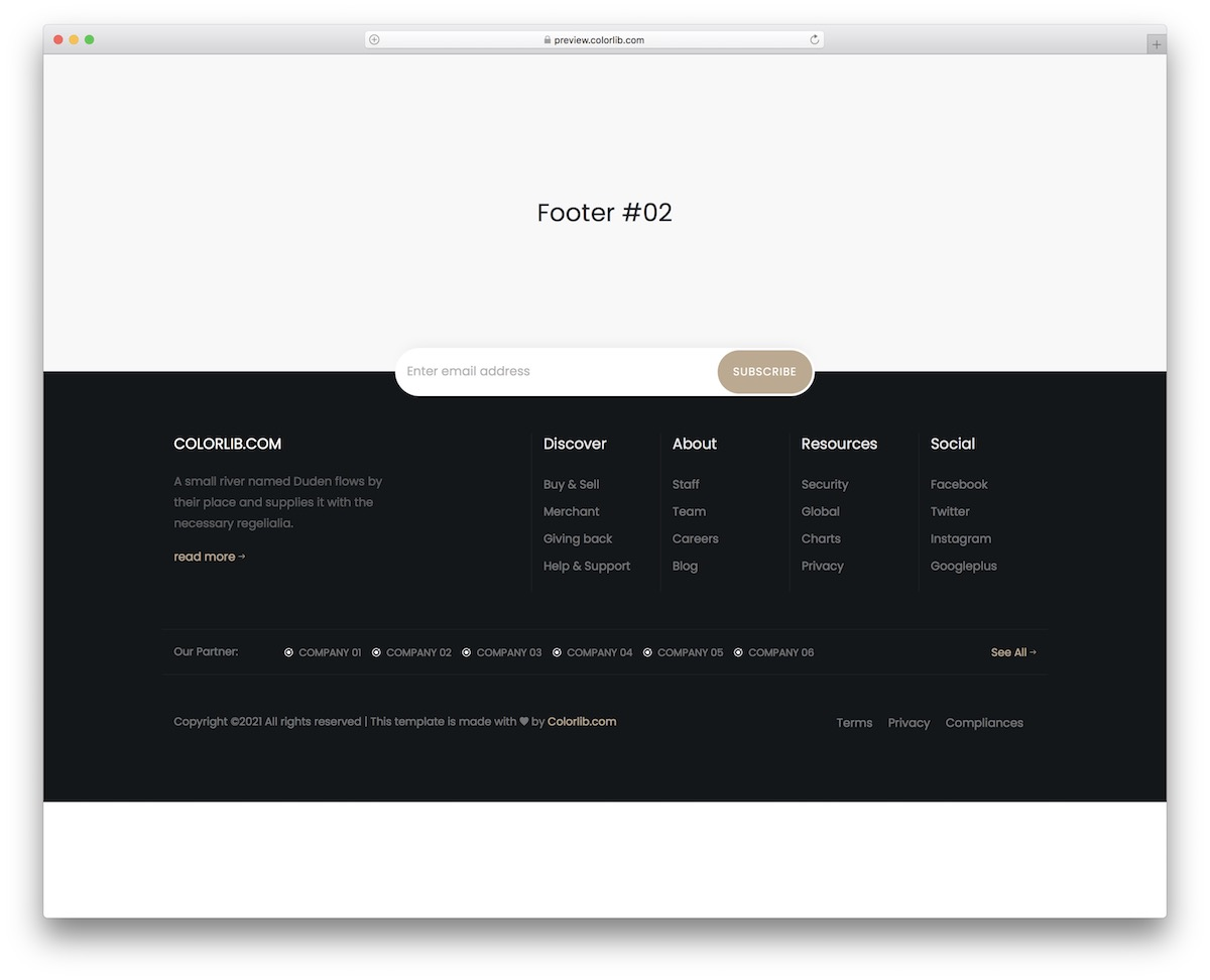 bootstrap footer 12