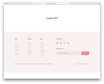 Bootstrap Footer 13