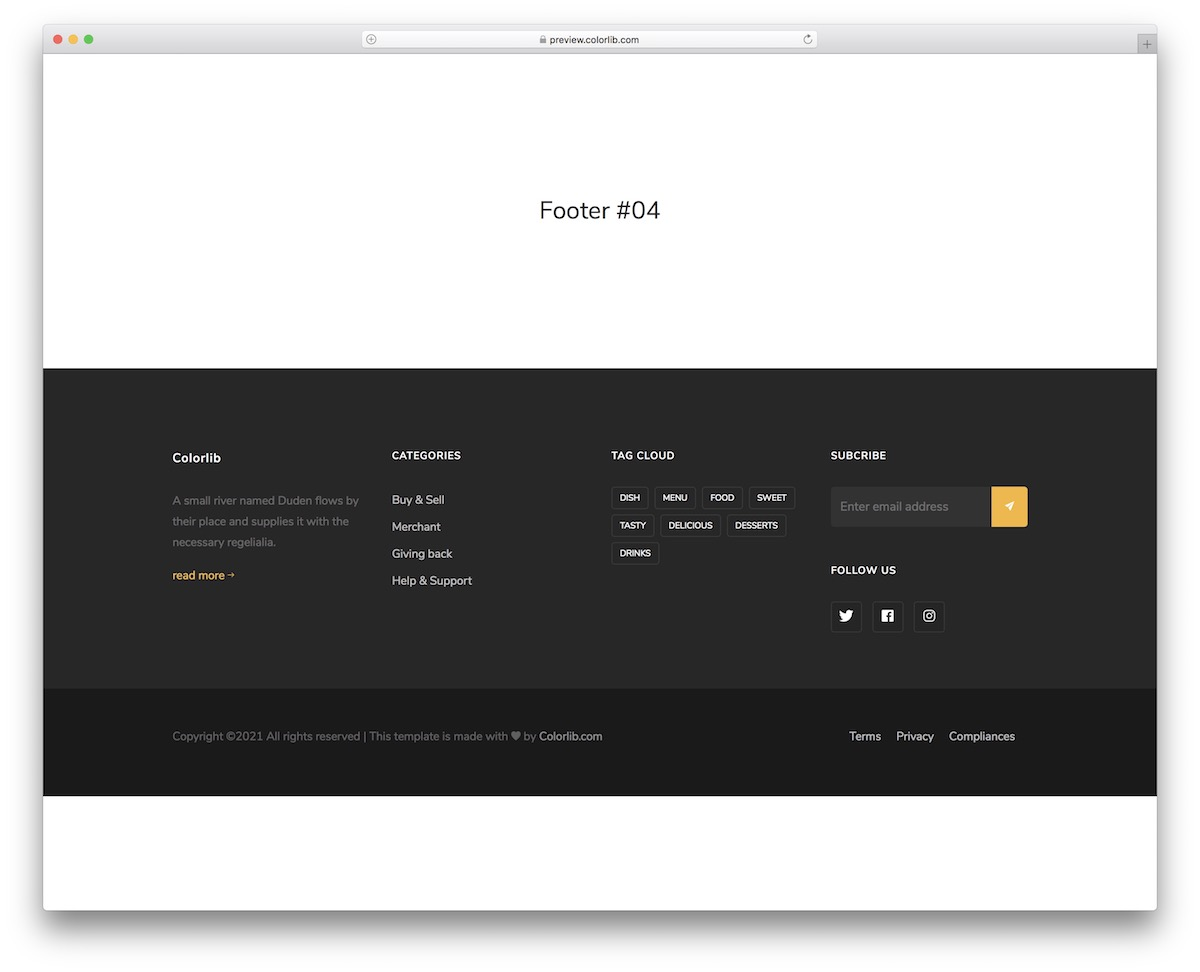 bootstrap footer 14