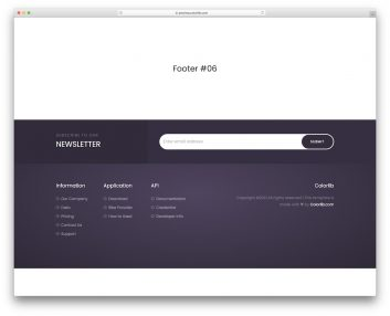 Bootstrap Footer 16
