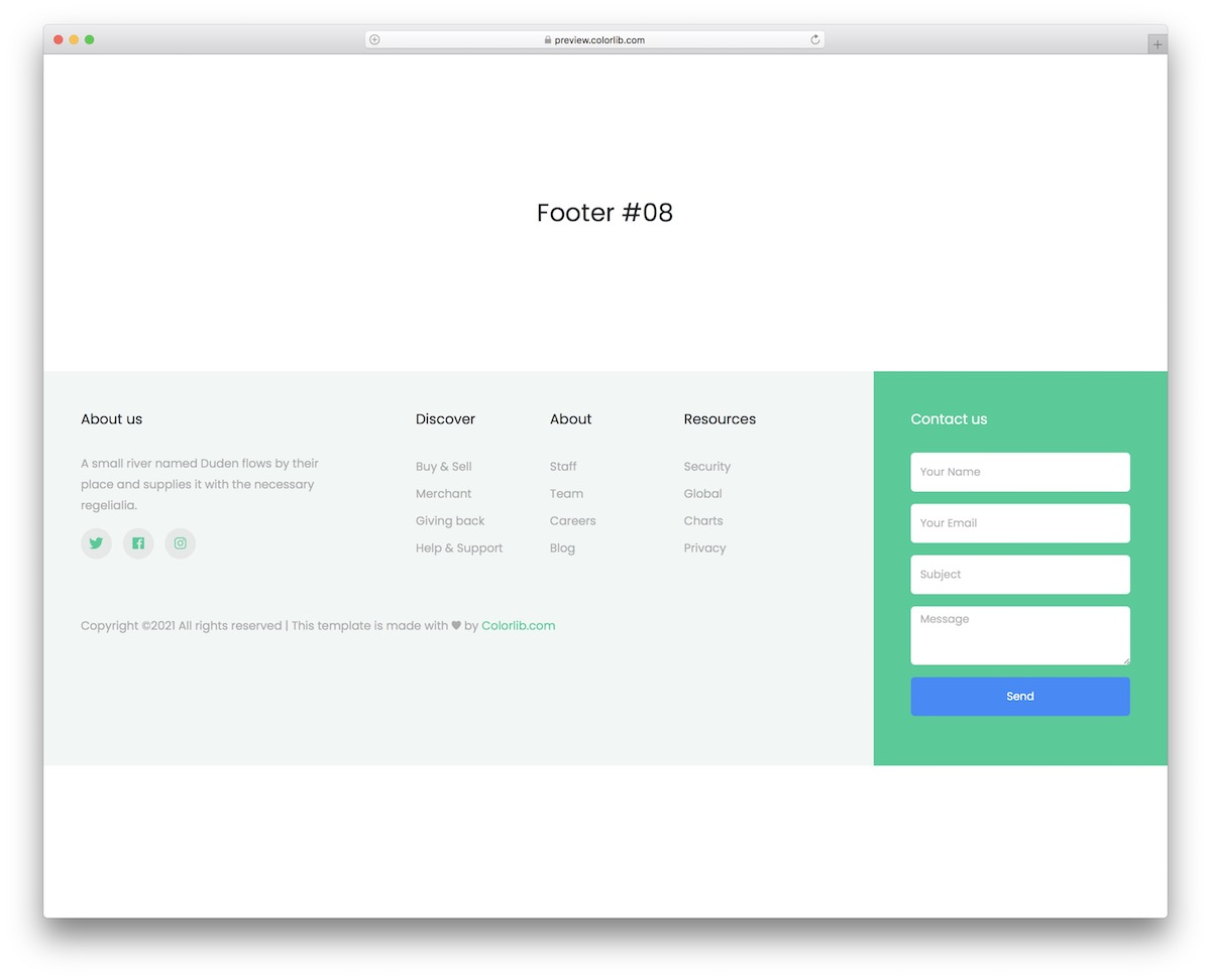 bootstrap footer 18