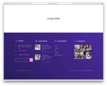 Bootstrap Footer 19