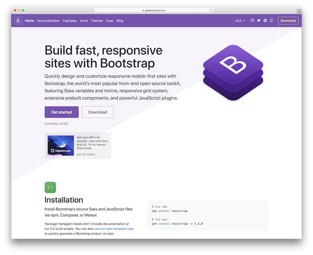 bootstrap grid framework