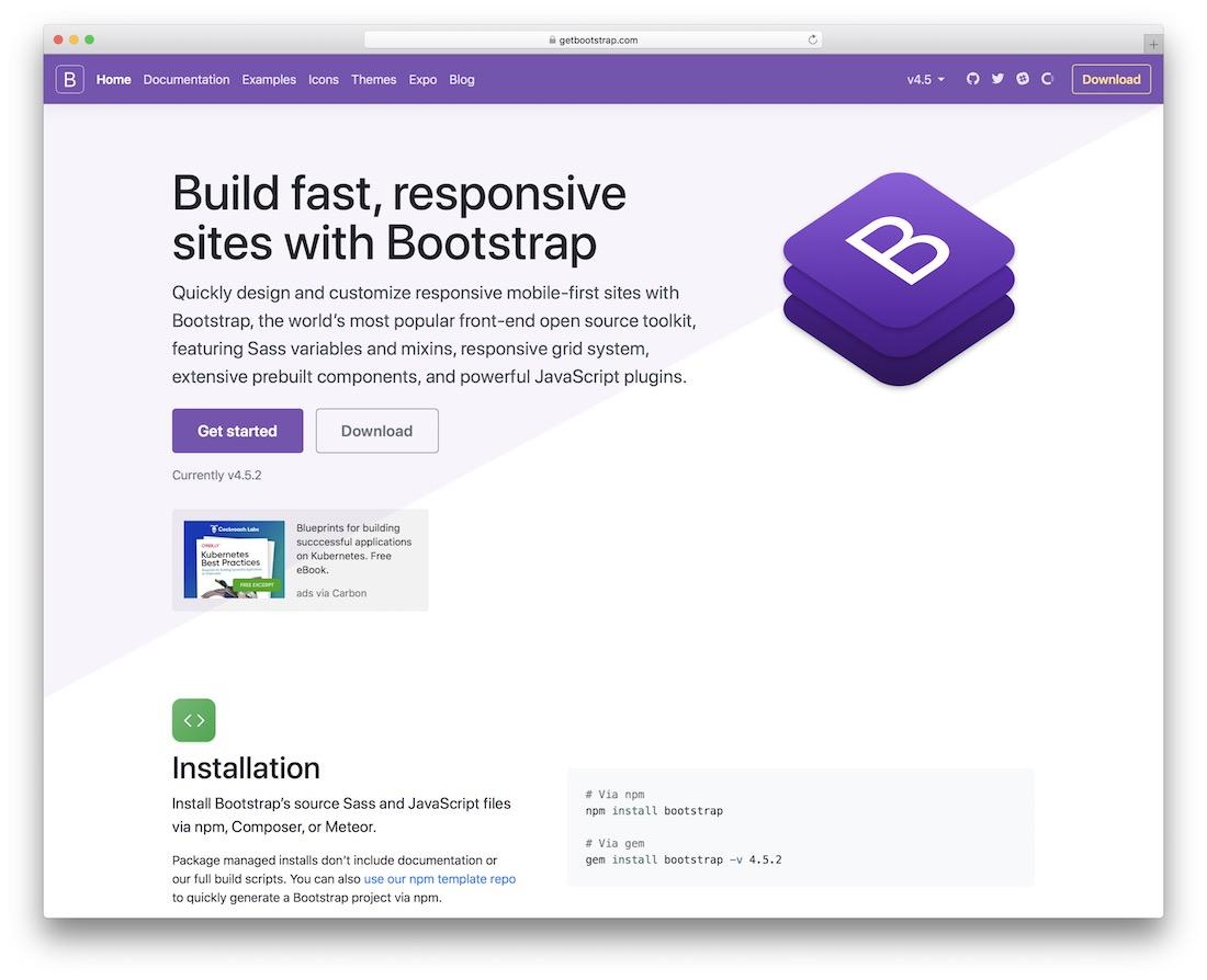 bootstrap html5 framework