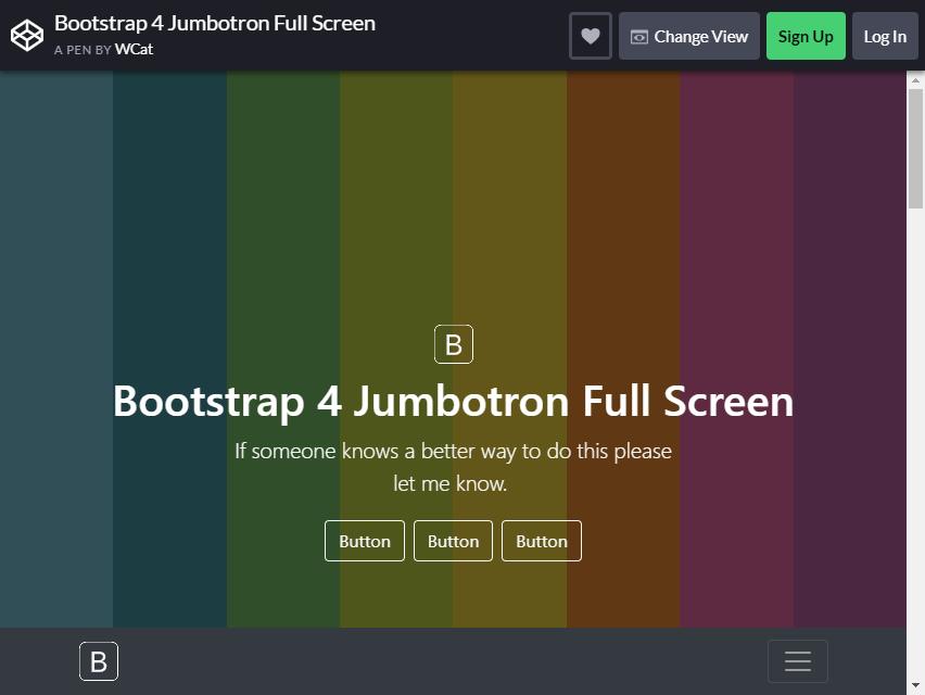 bootstrap jumbotron