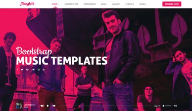Bootstrap-music-templates