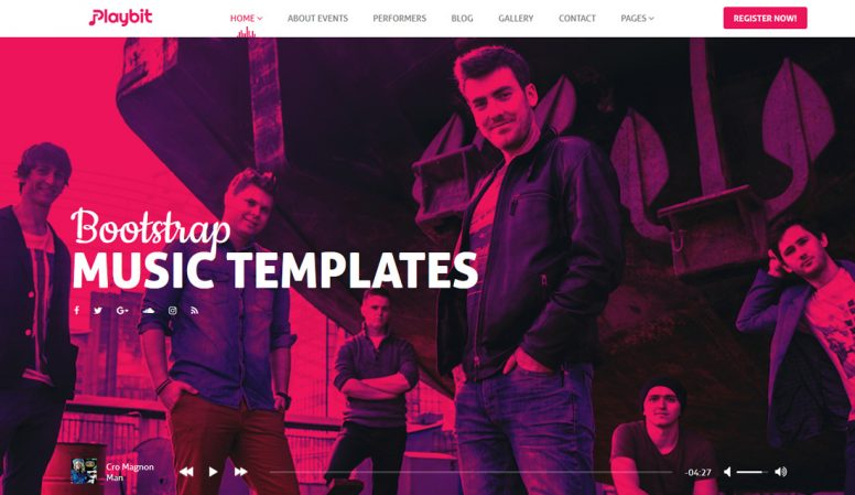 20 Best Rocking Bootstrap Music Templates For Musicians, Artists & Musics Bands