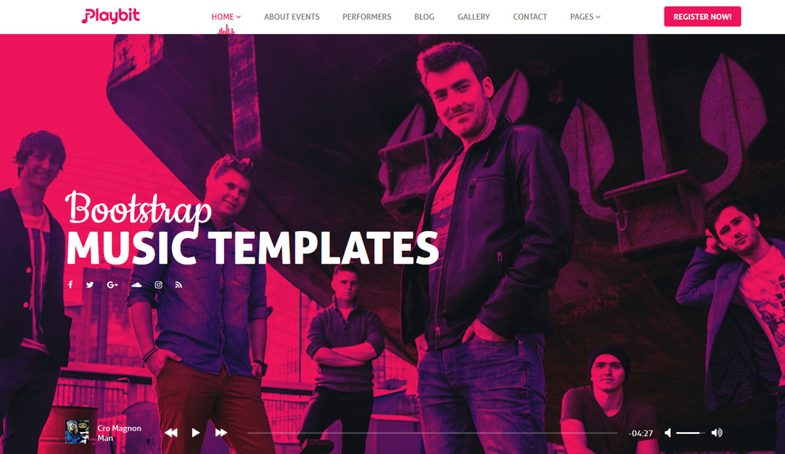 17 Best Rocking Bootstrap Music Templates For Musicians, Artists & Musics Bands
