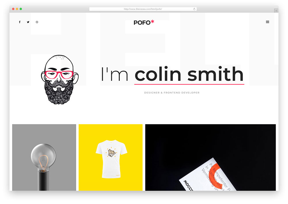 Pofo Is An Original Html5 Css Website Template Ideal For Imaginative And Artistic People You Can Use The 25 Ready To Demos But Best Suit Six