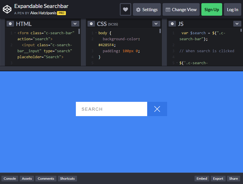 bootstrap search bars