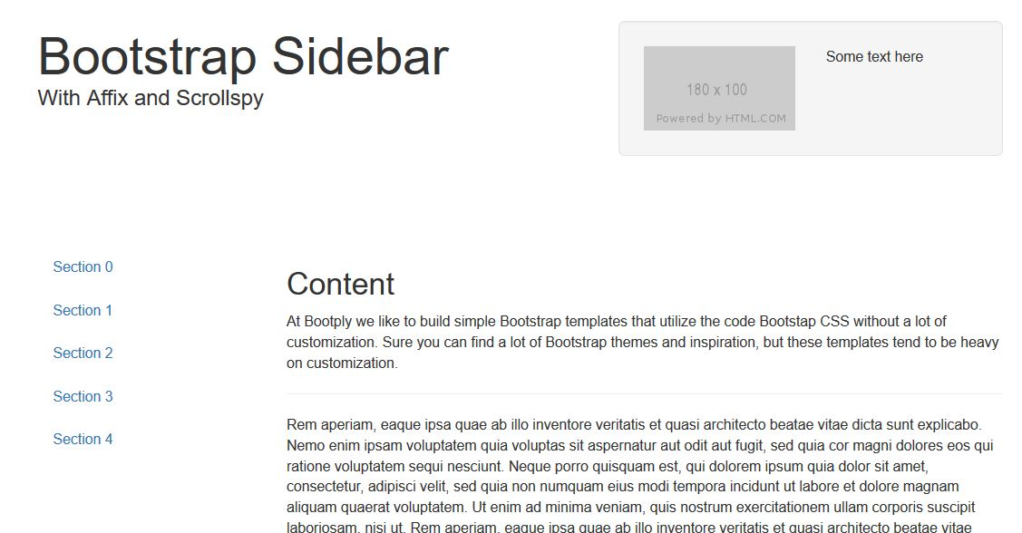 20 Most Amazing Free Bootstrap Sidebar Templates 2019 - Colorlib