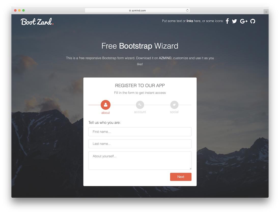 bootzard free bootstrap wizard
