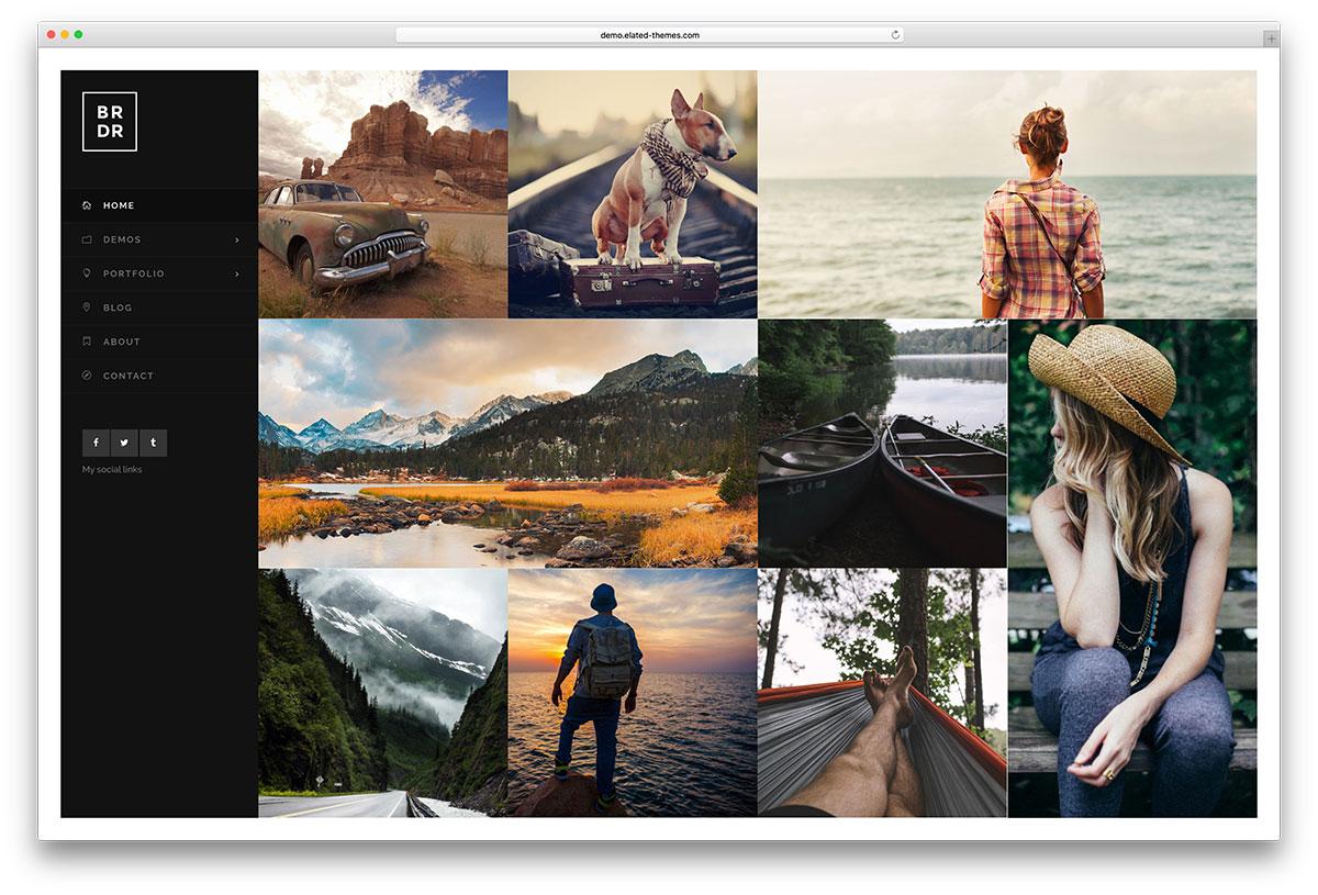 borderland-awesome-grid-style-portfolio-theme