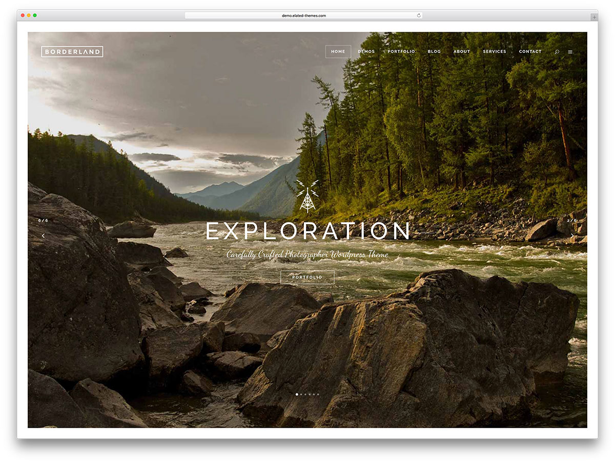 Borderland vintage photography portfolio theme