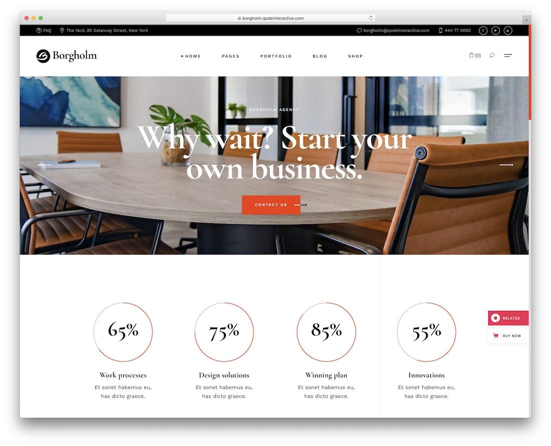 borgholm marketing wordpress theme